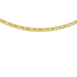 The Jewelry Collection For Men Ketting Konings 2 5 mm Geelgoud (14 Krt.)