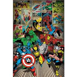 Pyramid Marvel Comics Here Come the Heroes Poster 61x91 5cm