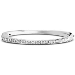 Ti Sento Milano 2298ZI Armband bangle zilver met zirconia 60 mm