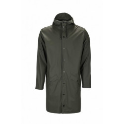 Rains Long Jacket 1202 Regenjas Unisex Green