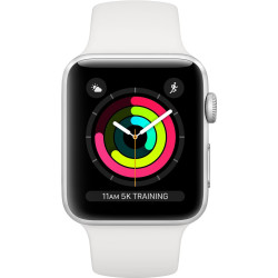 Apple Watch Series 3 38mm Zilver Aluminium Wit Sportbandje MTEY2