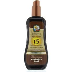 Australian Gold SPF 15 Spray Gel Zonnebrand met Bronzer 237 ML