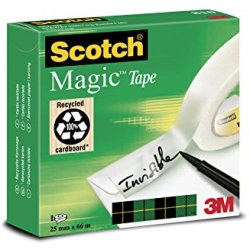 Onzichtbaar plakband Scotch Magic 810 25mmx66m