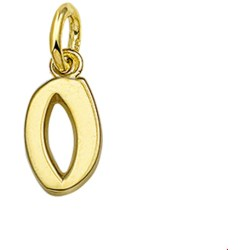 The Jewelry Collection Hanger Letter O Goud