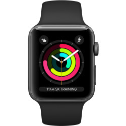 Apple Watch Series 3 Smartwatch Spacegrijs Zwart Sportband 42mm