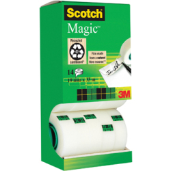 Scotch plakband Scotch Magic Tape value pack 12 2 rollen gratis