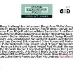 Svensk Jazzhistoria Vol 10 1965 1969 Watch Out