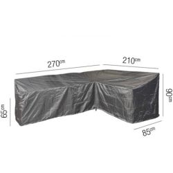 Loungesethoes L right 270 x 210 x 85 x 65(H) 90(HB) cm AeroCover