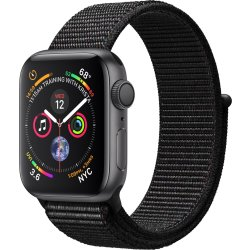 Apple Watch Series 4 GPS 40mm grijs alu zwarte sport loop