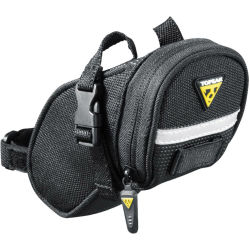 Topeak Aero Wedge Packs Small Met Strap Zadeltas 0.65 l Zwart