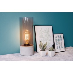 Table lamp Lax cement base grey glass