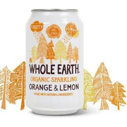 Whole Earth Sparkling Orange Lemon 330ml