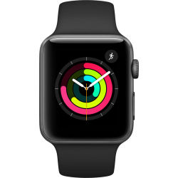 Apple Watch Series 3 42mm Kast van Spacegrijs Aluminium met...