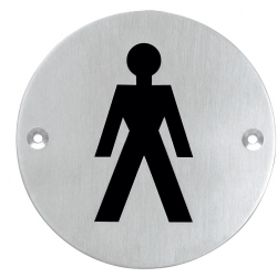 Pictogram herentoilet rond