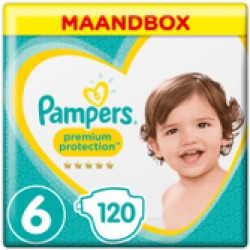 Pampers Premium Protection maandbox maat 6 (13 kg) 120 luiers