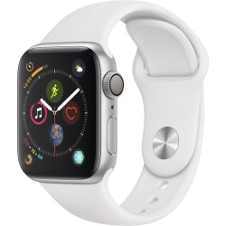 Apple Watch Series 4 40 mm Zilver met wit bandje