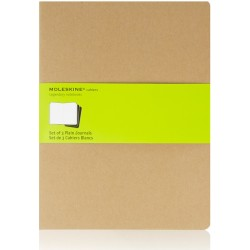 Moleskine cahier notitieboek (set van 3) beige XL Blanco