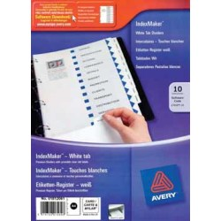 AVERY IndexMaker 10 tabs
